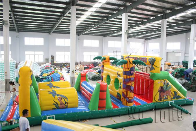 Inflatable Jungle Obstacle for water parks/inflatable water toy