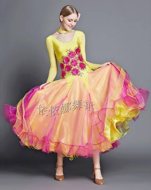 Taior-Made Ballroom Dance Dress Ballroom Gown Standard Dress Smooth Dress Ballroom Latin