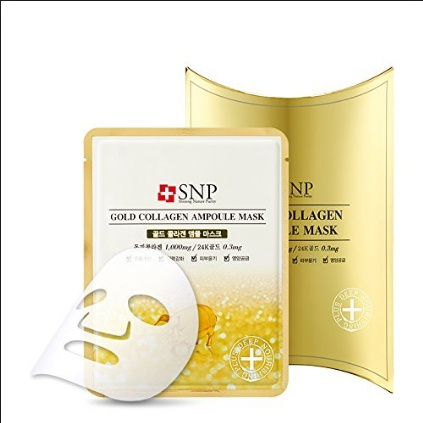 [SNP] Gold Collagen Ampoule Mask Ver.3 10 PCS - Original Korea Facial Mask 100% Real