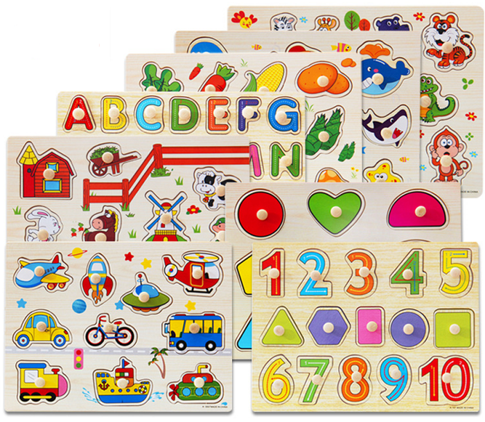 Educational toys Puzzle Montessori jigsaw puzzle for children Wooden Toys