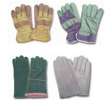 industrial leather work gloves