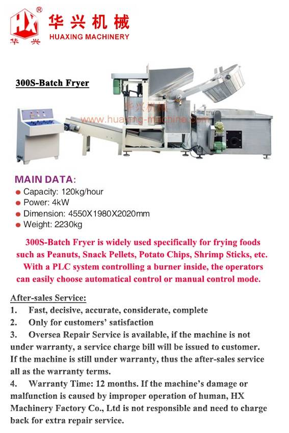300S-Batch Fryer
