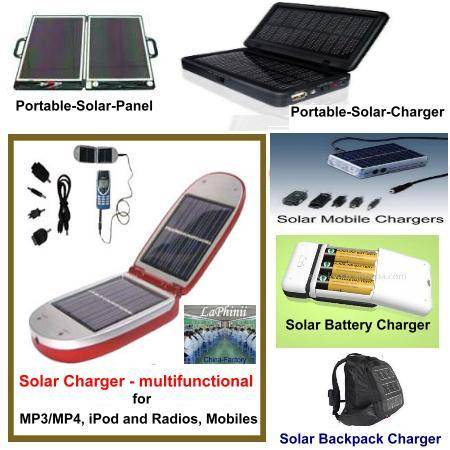 Solar Mobile Chargers - Multifunctional