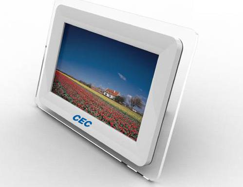 "digital photo frame with 7"" TFT display"