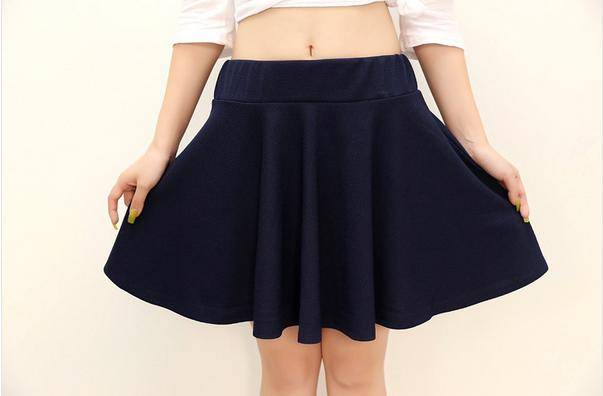 Girl's short skirts