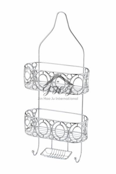 Two Tier Elegant Shower Caddy Rack Organizer