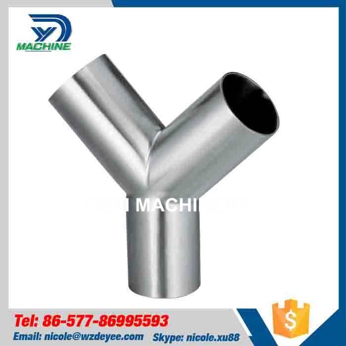 Sanitary Stainless Steel Welding Y Type Tee