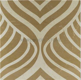 Iran Beige Cream Composite  Marble Porcelain Backed Designing for Floor  and Wall
