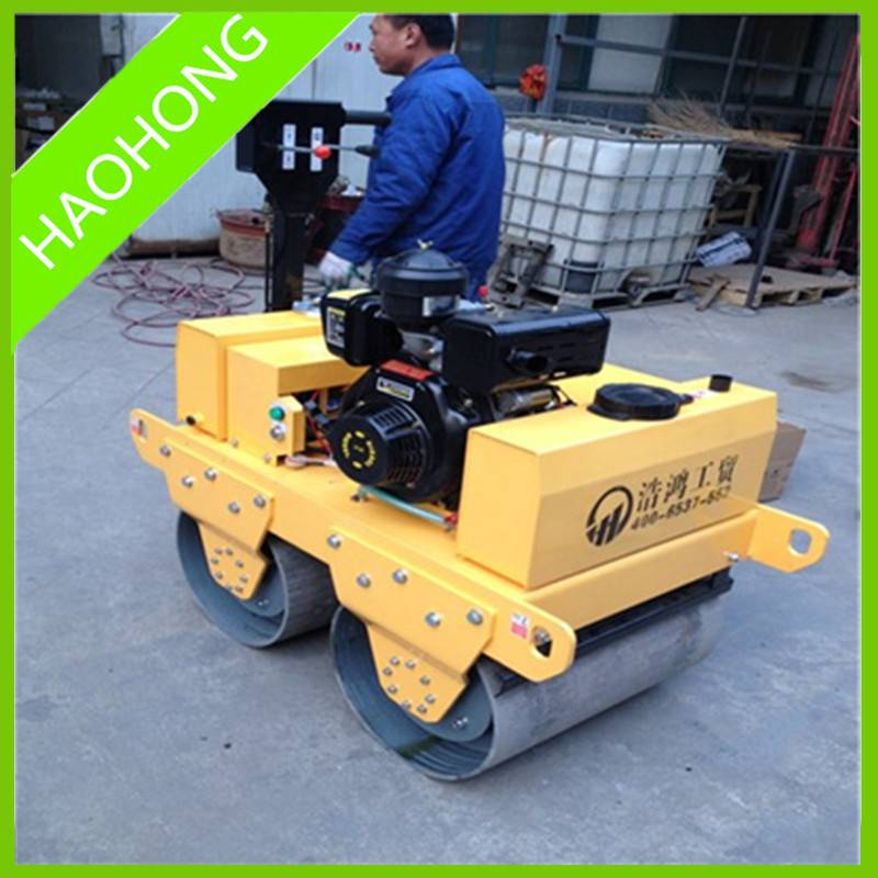 Walk Hand Double Drum Vibratory Road Roller
