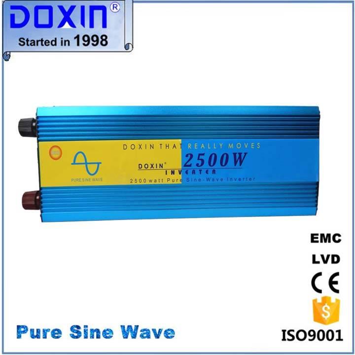 Doxin 2500w pure sine wave  inverter 12v 220v for solar system