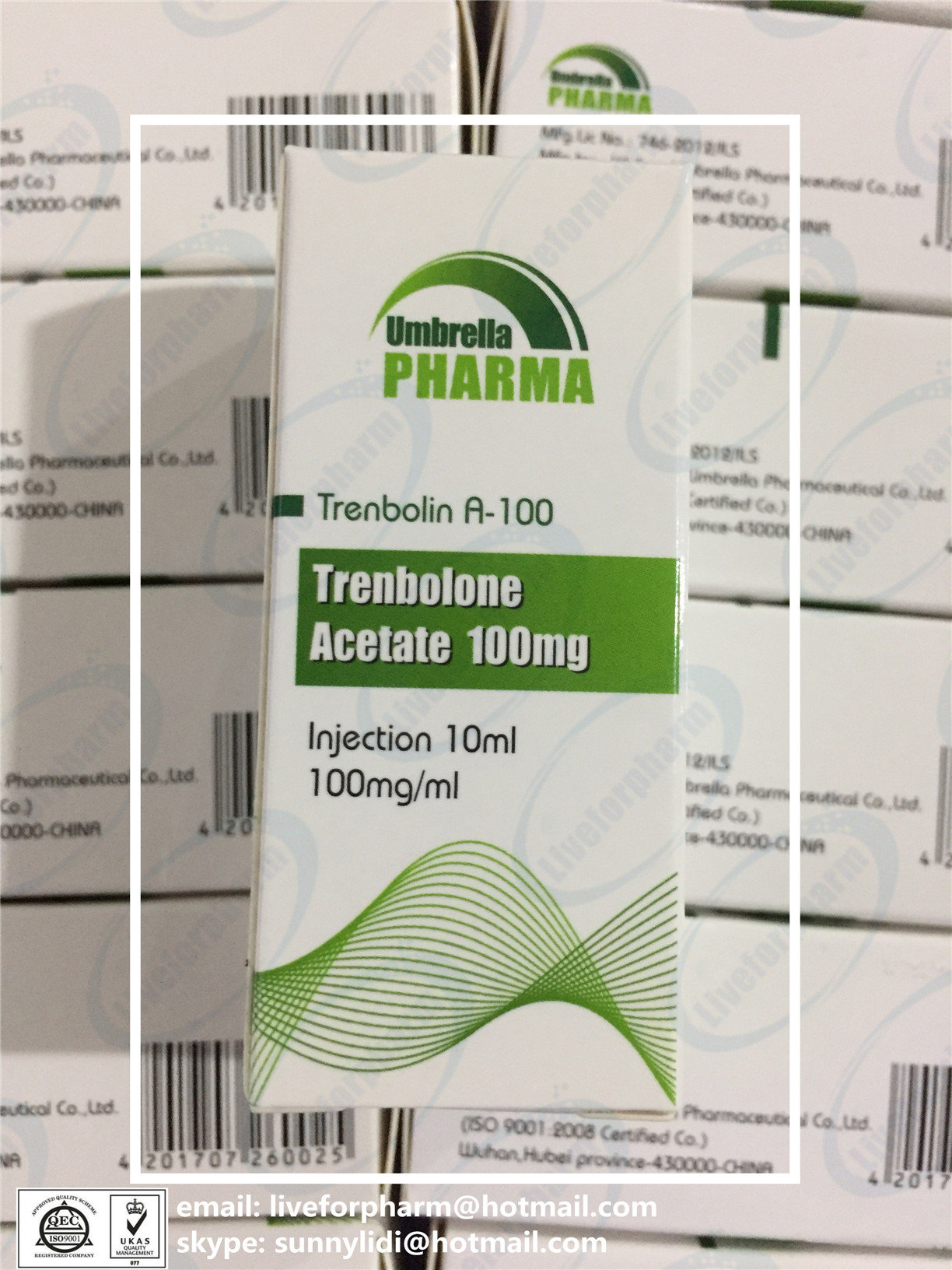 Injectable Anabolic Steroid Finished Liquid Trenbolone Acetate 100mg/ml 98.8% above purity