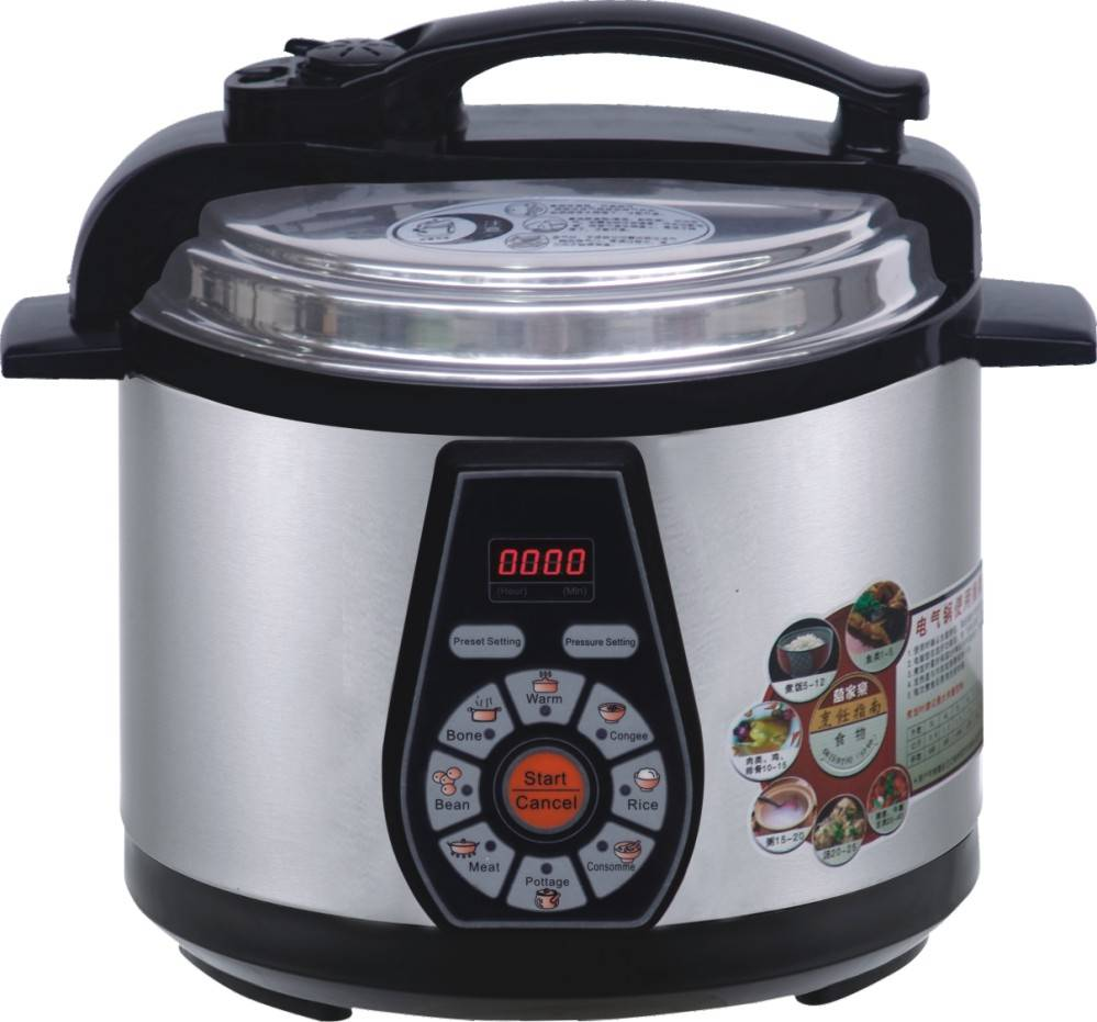 ETL Approval 6L Stainless steel digital multi electric pressure cooker with slow cooker function