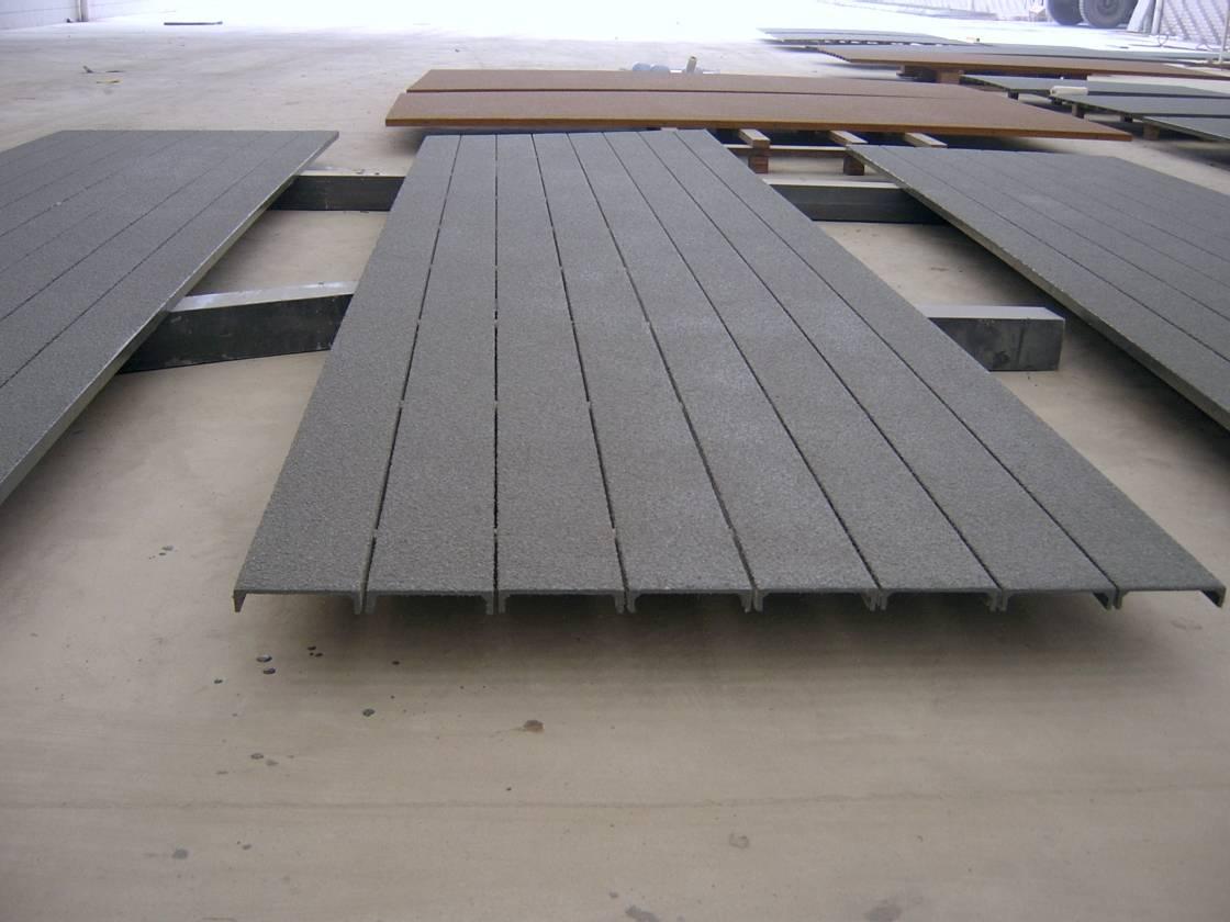 pultruded FRP profile,grp,fiberglass structural section with deck