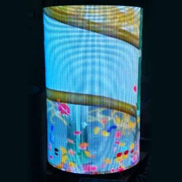 DGX Cylinder P4 LED Screen with High-definition and High-brightness