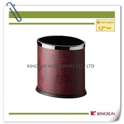 Leatherette  Body Double Layer Round Room Dustbin