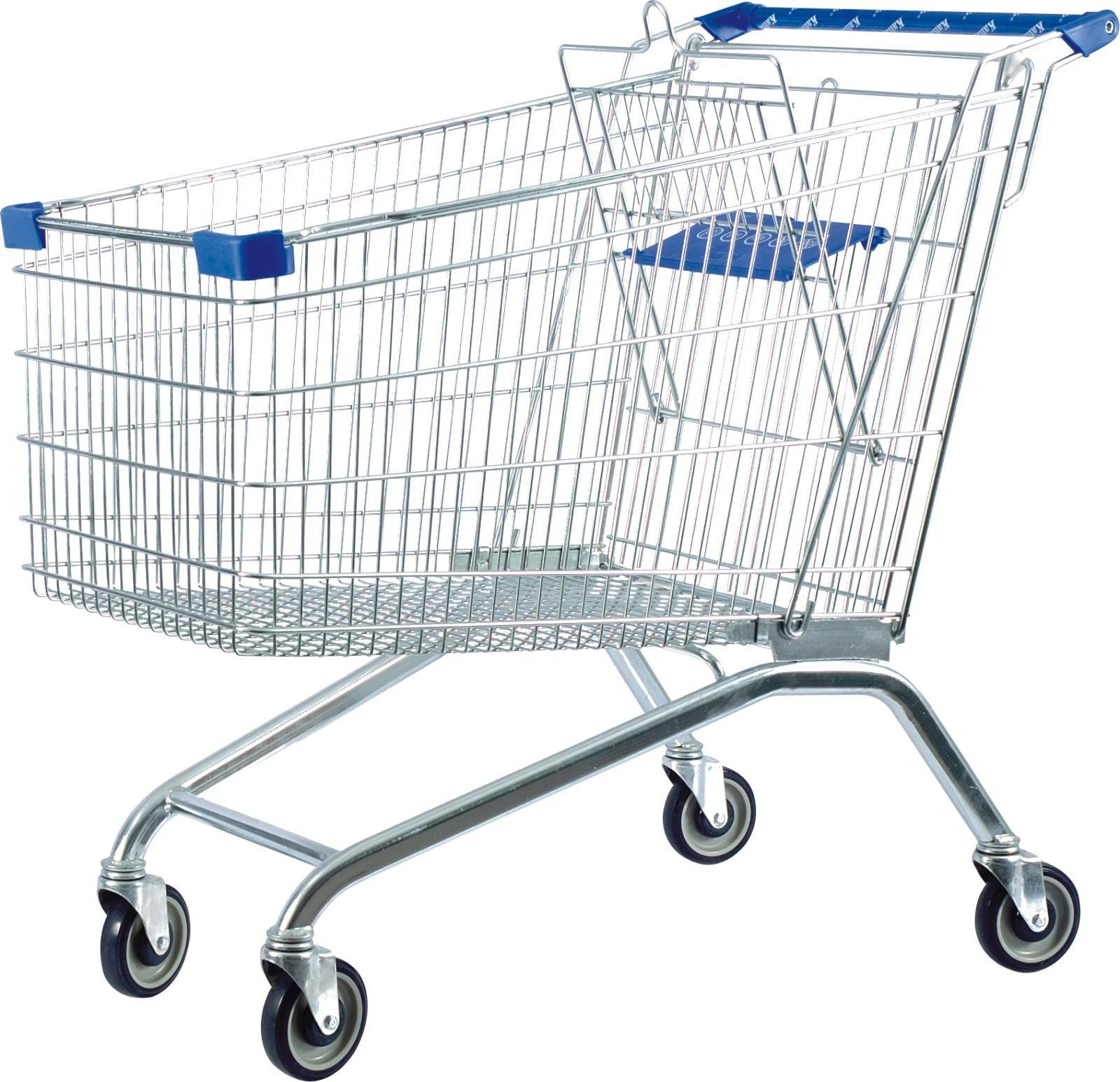 European style lowest price supermarket shopping cart trolley