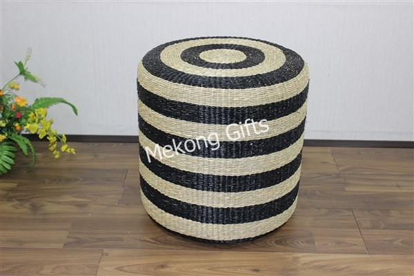 Round seagrass stool