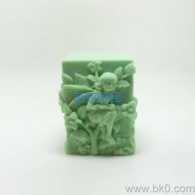 3D Fairy Candle Silicone Molds Diy Soap Mold Rtv Silicone rubberr AA022