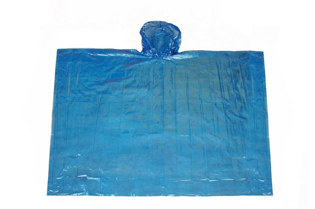 R-1037 BLUE PE DISPOSABLE RAIN WATERPROOF PONCHO