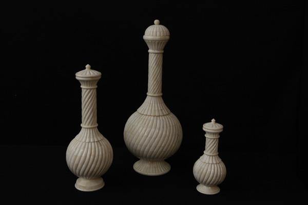 Bone Decorative Crafted Flower Vase