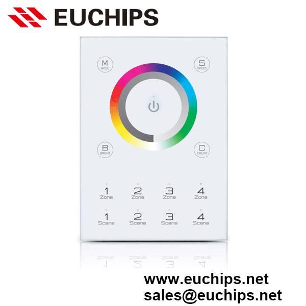 5VDC 4 zones 4 secens 16 channels dmx touch panel controller DMX-E03