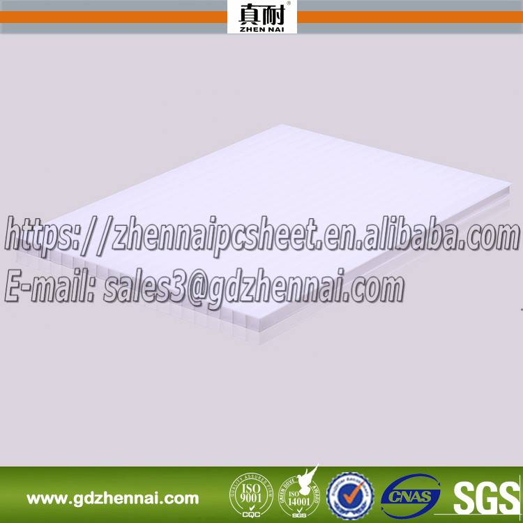 2016 Zhennai high quality opaque polycarbonate sheet