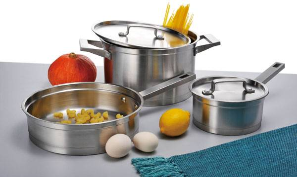 5pcs stainless steel cookware set