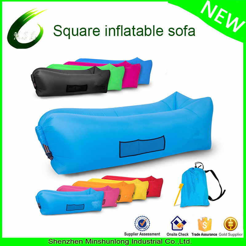 In Stock 2017 Air Filling Sofa Air Bed Festival Camping Holiday Laybag Lazy Lounger Sleeping Air Ba