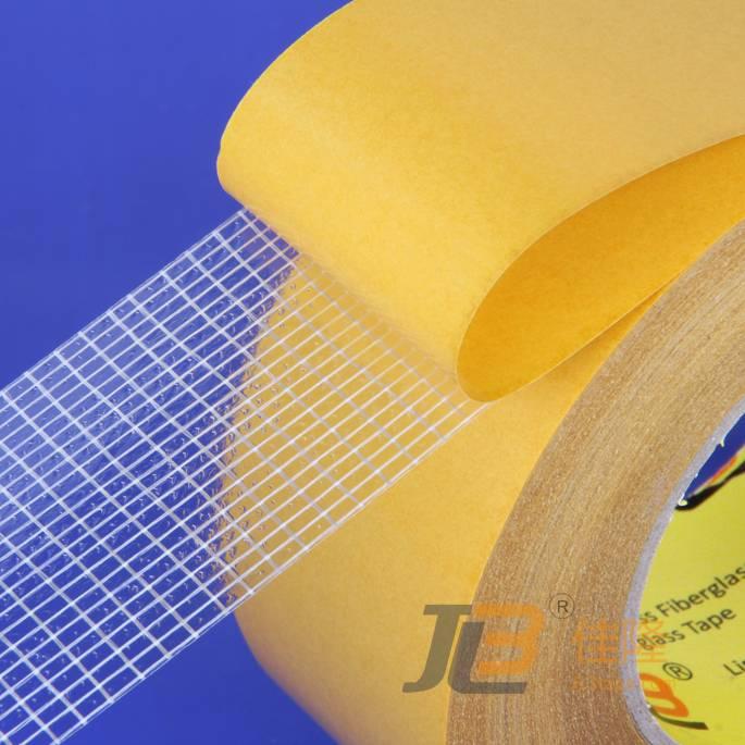Double side fiber mesh tape (adhesive transfer tape), JLW-313, ROHS & ISO9001:2000
