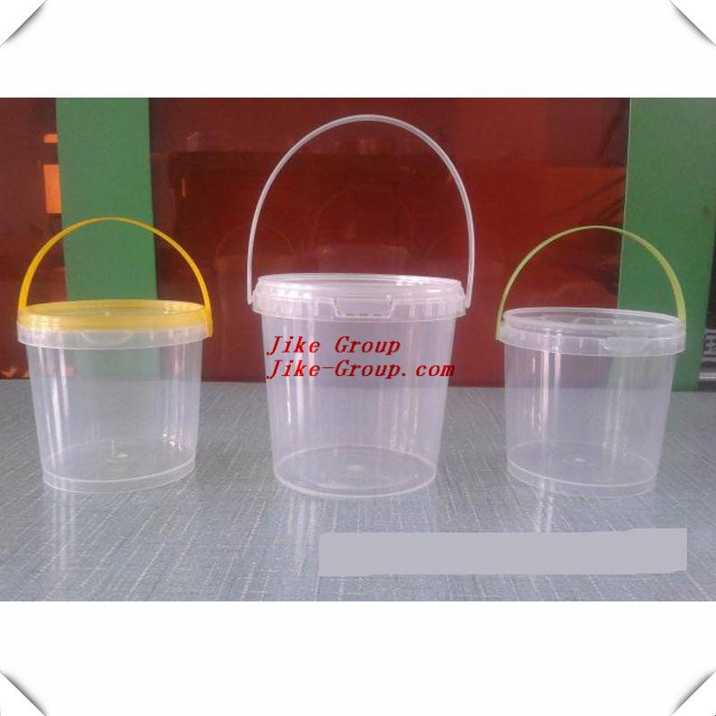 food grade gallon plastic clear bucket with handles in food container
