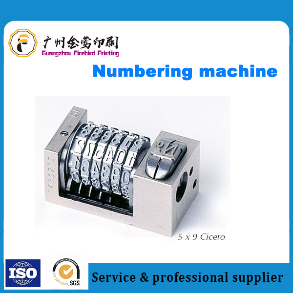 High Quality Printing numbering machine regular and custom making