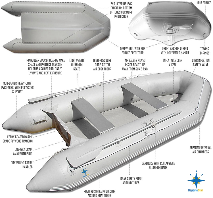 Cheap Rigid Inflatable Costal Rowing Boat