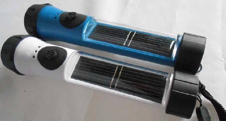 WATERPROOF SOLAR FLASHLIGHT