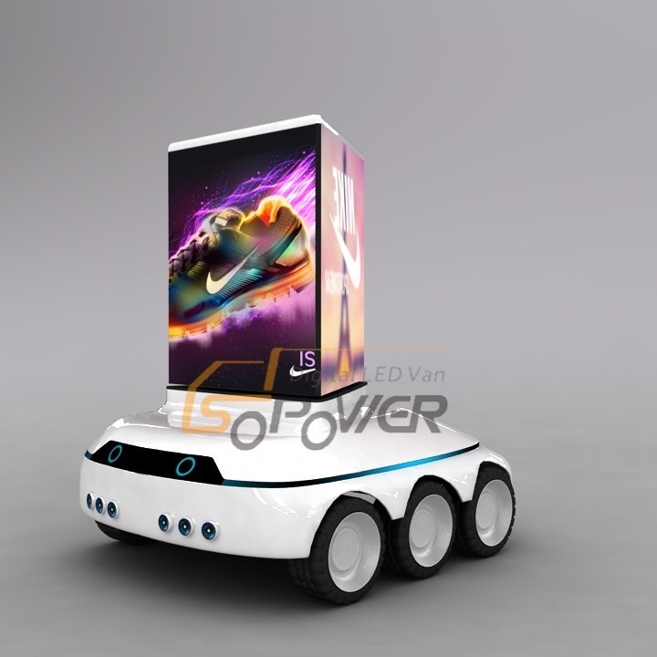 SoPower Digital P1.92 LED Display Billboard Moving Car iCruise