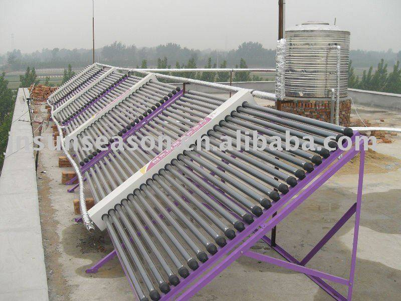 Sunseason solar water heater project