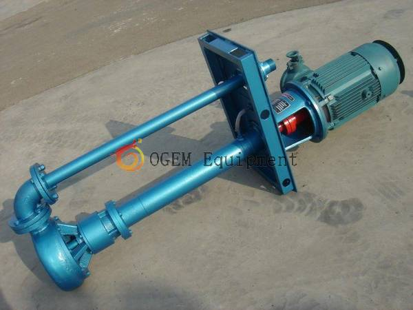 Submersible slurry pump in working use