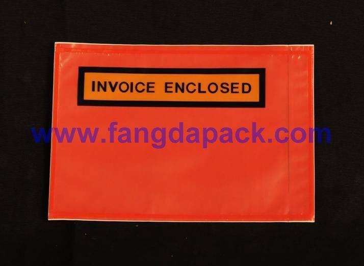 red bottom film documents enclosed pouch sticker