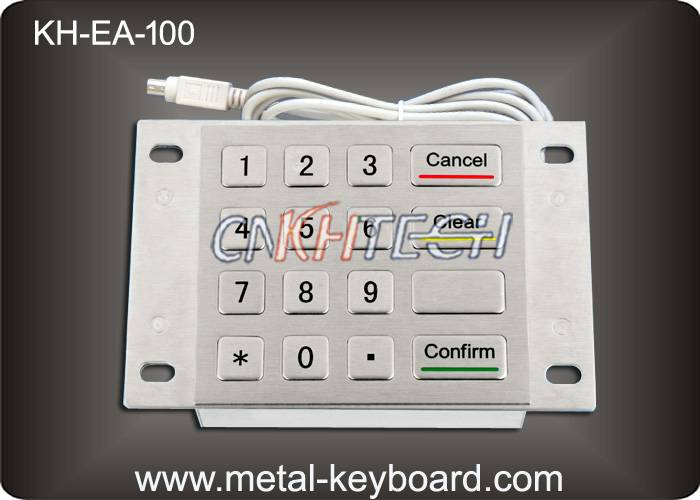 KH-EA-100 Rugged Stainless Steel Metal Keypad 4 x 4 Matrix for Bank Kiosk