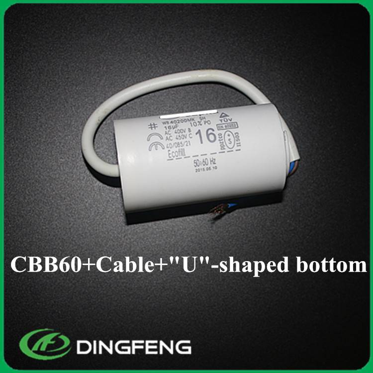 cbb60 sh capacitor 16uf yellow resin capacitor and 450vac capacitor cbb60