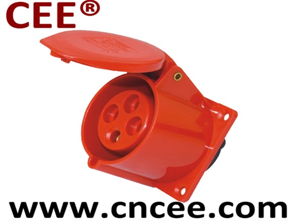 CEE Industrial Socket Panel Mounted Socket Staright