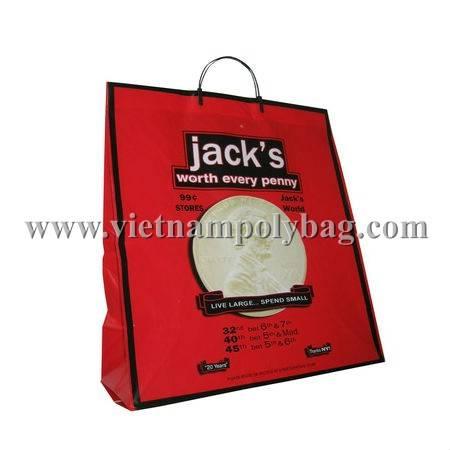 Vietnam Clip loop hard handle poly plastic bag