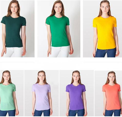 All sorts of color ms quality waist round neck T-shirt