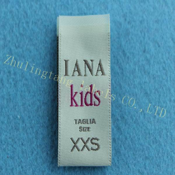 high quality woven label&size label for kids clothing