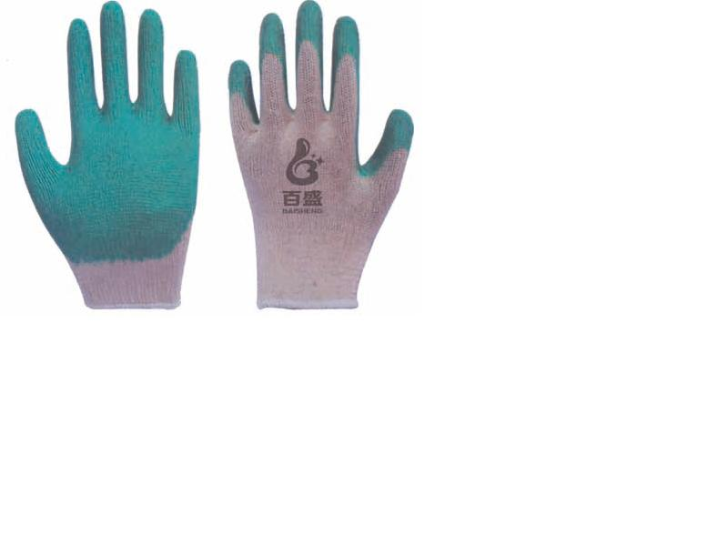 10G Cotton gloves Latex coated smooth