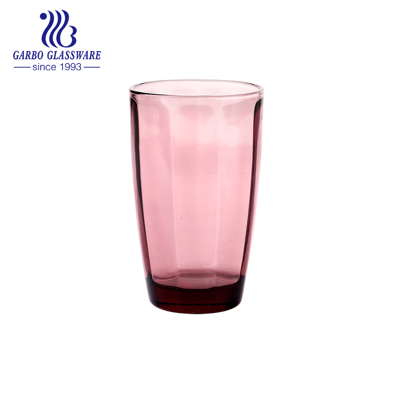 8oz 10oz hot sale water and juice drinking color glass cup