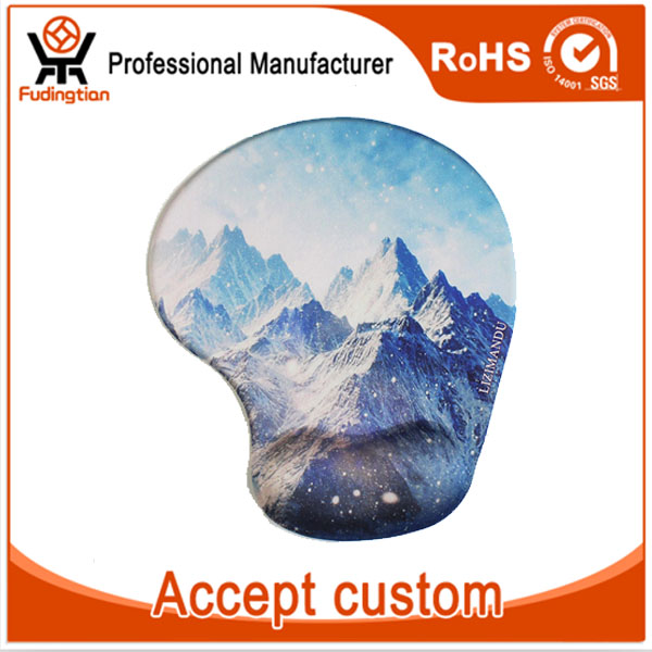 Custom Printed Silicone Gel Mouse Pad with Wrist support