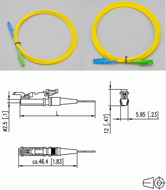 E2000 Singlemode Fiber Patch Leads optical fiber patch cord
