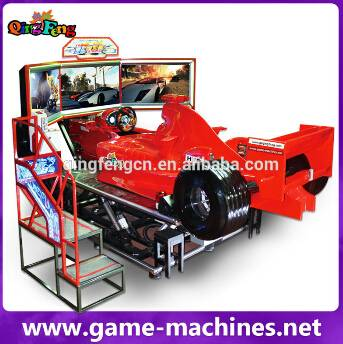 Qingfeng 2015 GTI Fair hot sale 4d simulation ride 4d car racing simulator electronic game