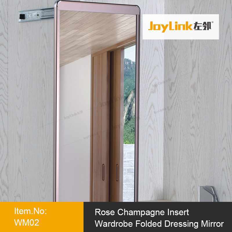 Hot Sell Rose Champagne Pull out Wardrobe Dressing Mirror
