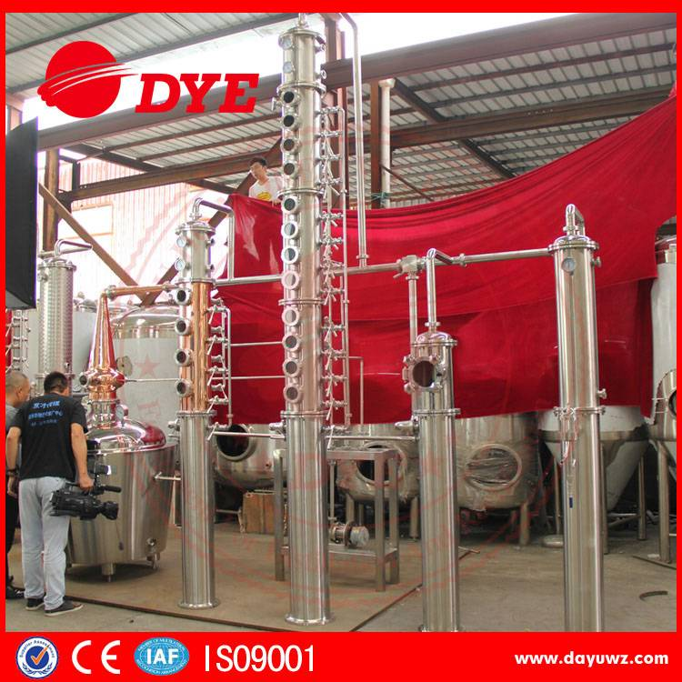 1000L copper alcohol distillery equipment for wine making